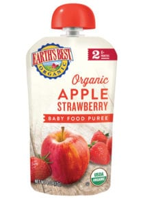 Apple Strawberry Baby Food Puree