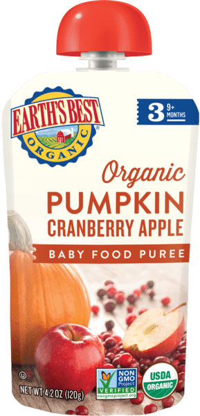 Pumpkin Cranberry Apple Baby Food Puree