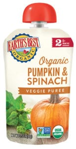 Pumpkin & Spinach Veggie Puree