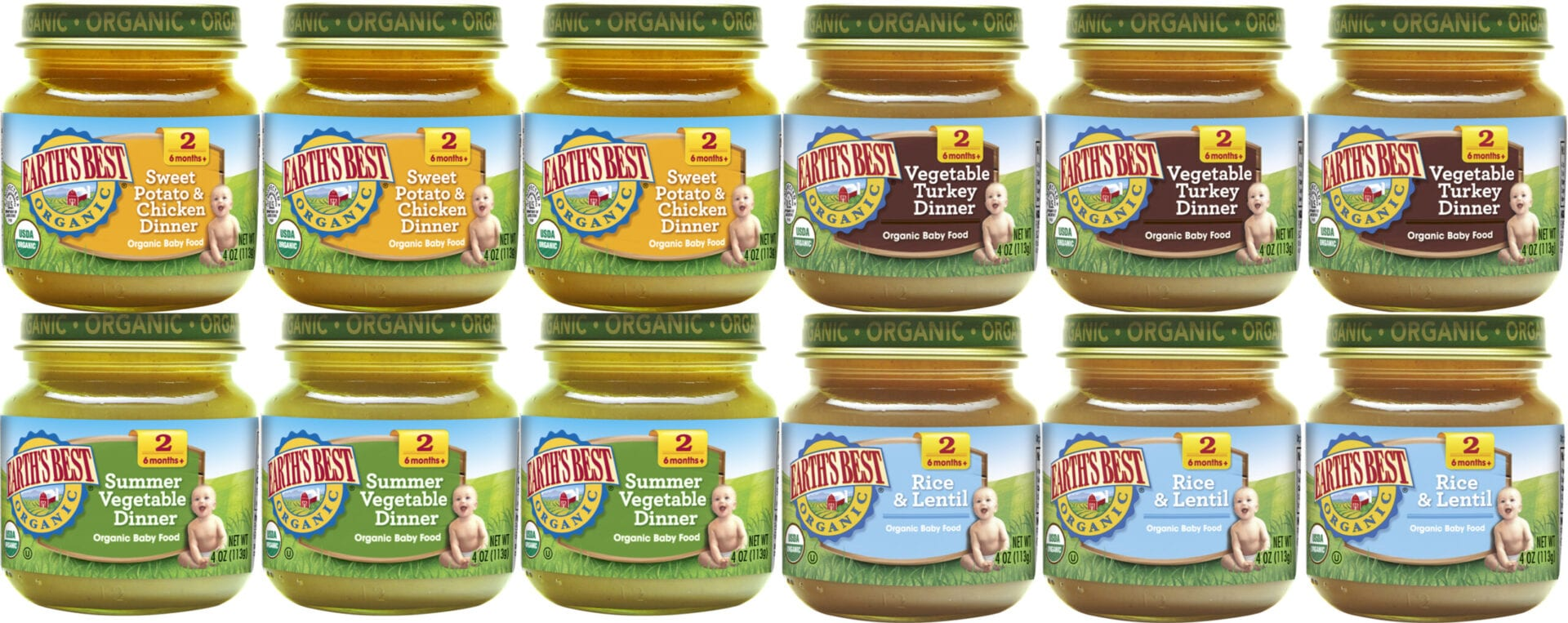 Image result for Earth's Best Vegetable Turkey Dinner Baby Food Stage 2