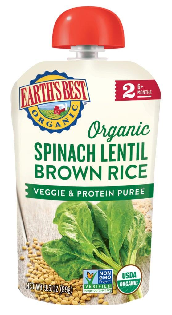 Broccoli Red Lentil Oat Veggie & Protein Puree