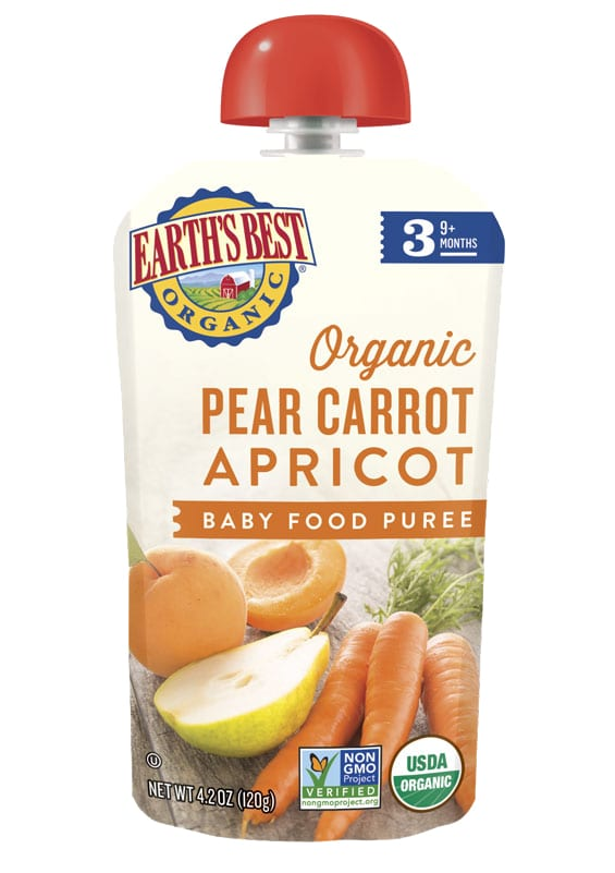 Pear Carrot Apricot Baby Food Puree