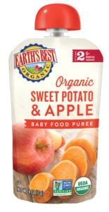 Sweet Potato Apple Baby Food Puree