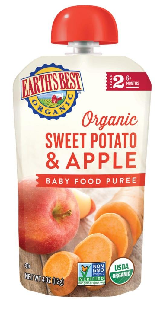 Sweet Potato Apple Baby Food Puree
