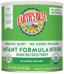 Organic Infant & Baby Formula | Earth's Best Organic Infant