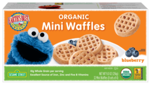 Organic Mini Waffles Blueberry