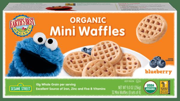 Organic Mini Waffles Blueberry