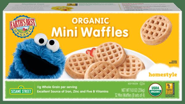 Organic Mini Waffles Homestyle