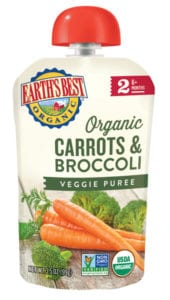 Carrots & Broccoli Veggie Puree