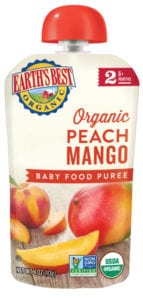 Peach Mango Baby Food Puree