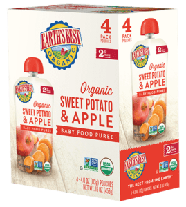 Sweet Potato Apple Baby Food Puree 4-Pack