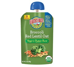 Broccoli Red Lentil Oat Puree